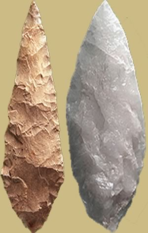 The New World - Arrowheads found near Clovis, New Mexico in 1929.